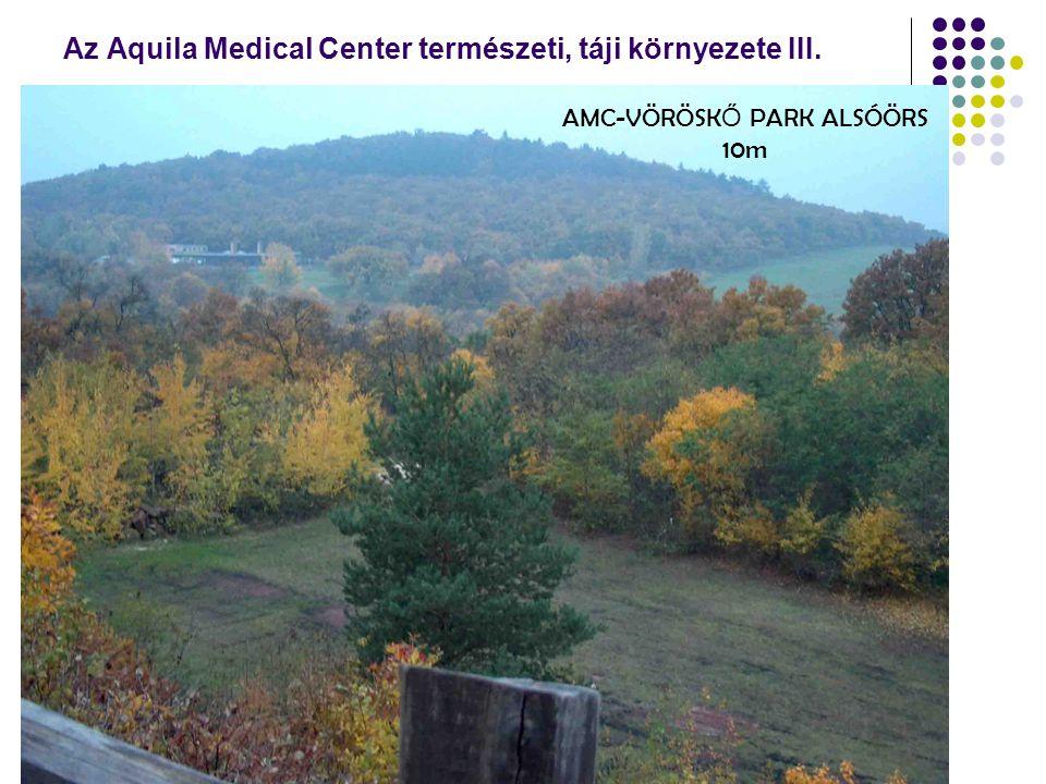 Az Aquila Medical Center természeti, táji környezete III. AMC-VÖRÖSK Ő PARK ALSÓÖRS 10m