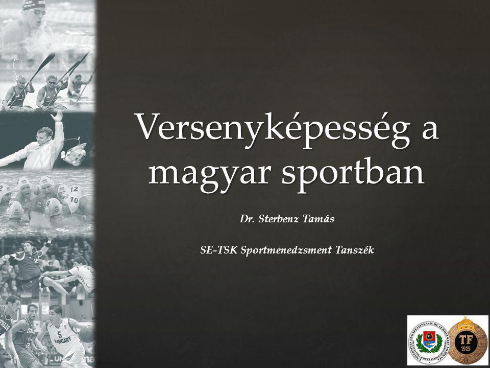 Versenyképesség a magyar sportban Dr. Sterbenz Tamás SE-TSK Sportmenedzsment Tanszék