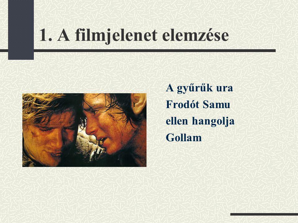 1. A filmjelenet elemzése A gyűrűk ura Frodót Samu ellen hangolja Gollam