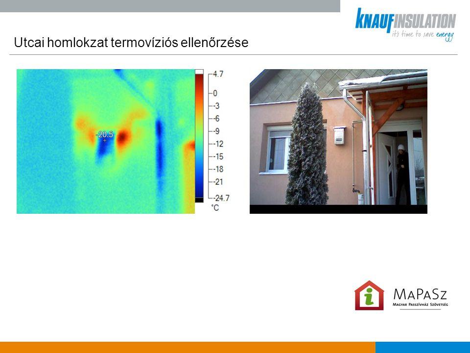Utcai homlokzat termovíziós ellenőrzése