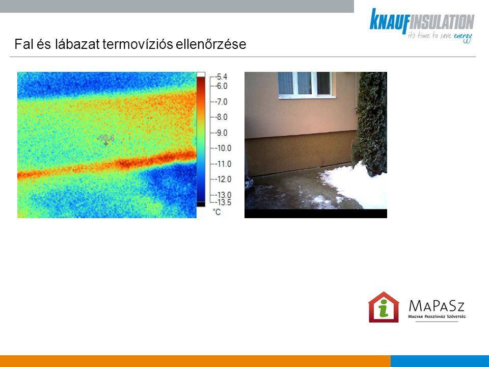 Fal és lábazat termovíziós ellenőrzése