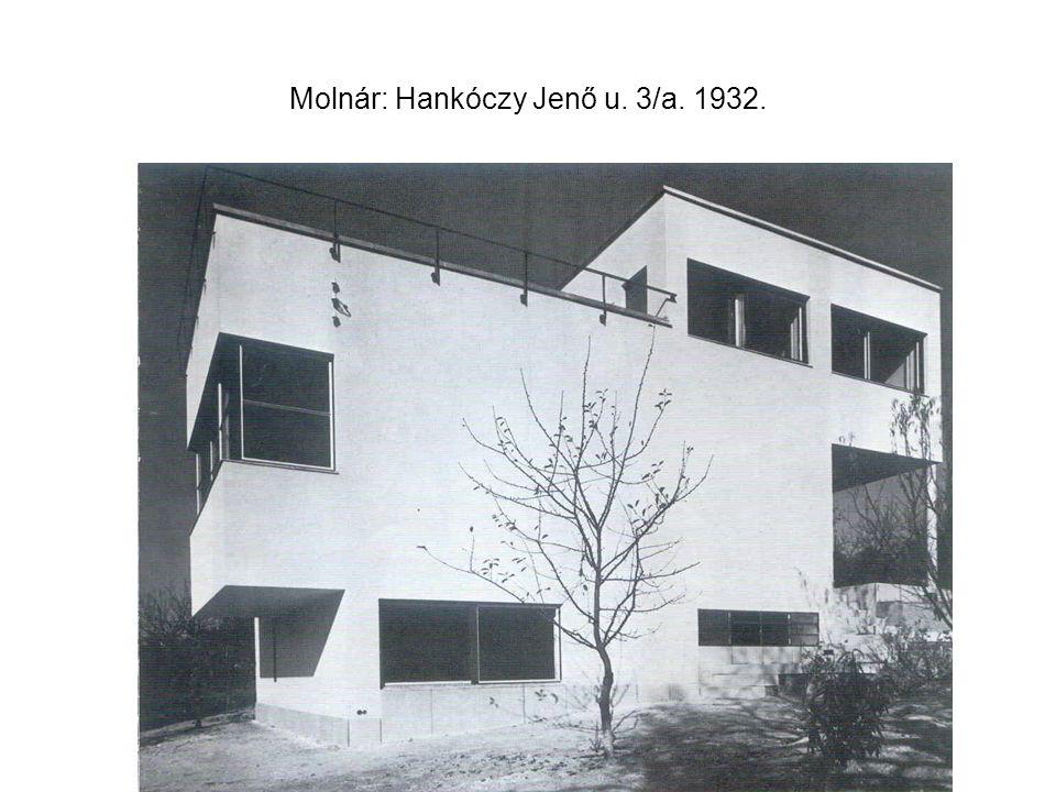 Molnár: Hankóczy Jenő u. 3/a. 1932.