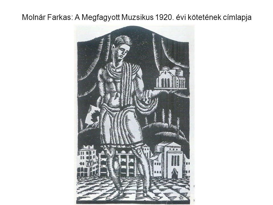 Molnár Farkas: A Megfagyott Muzsikus 1920. évi kötetének címlapja