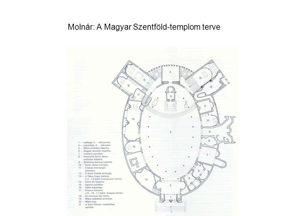 Molnár: A Magyar Szentföld-templom terve