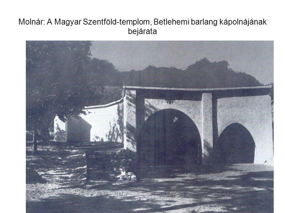 Molnár: A Magyar Szentföld-templom, Betlehemi barlang kápolnájának bejárata