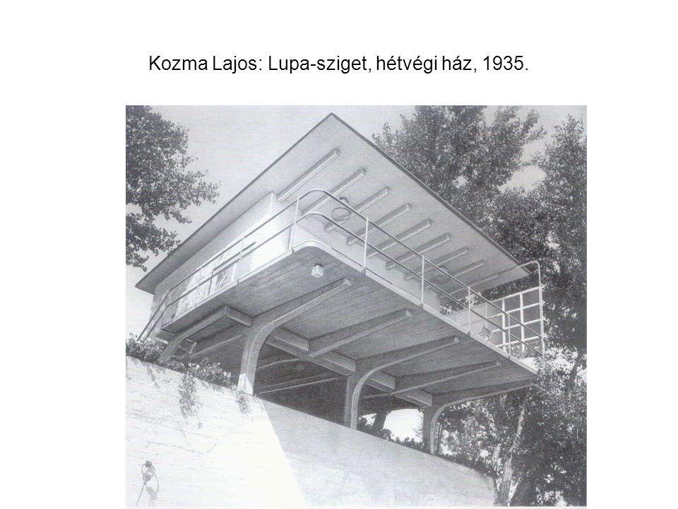 Kozma Lajos: Lupa-sziget, hétvégi ház, 1935.