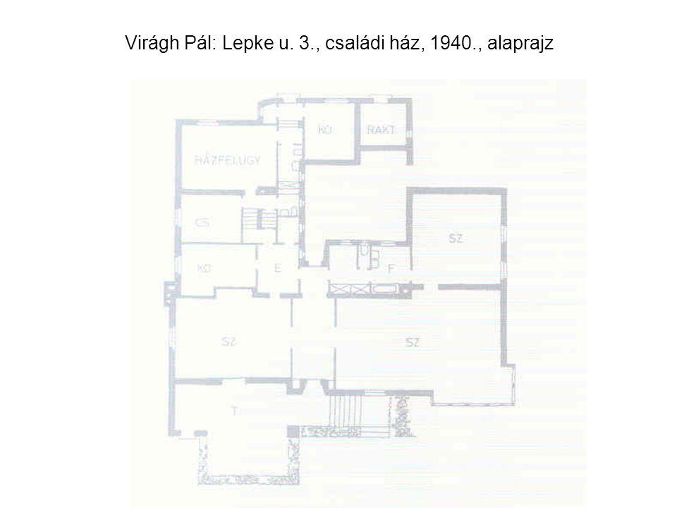 Virágh Pál: Lepke u. 3., családi ház, 1940., alaprajz