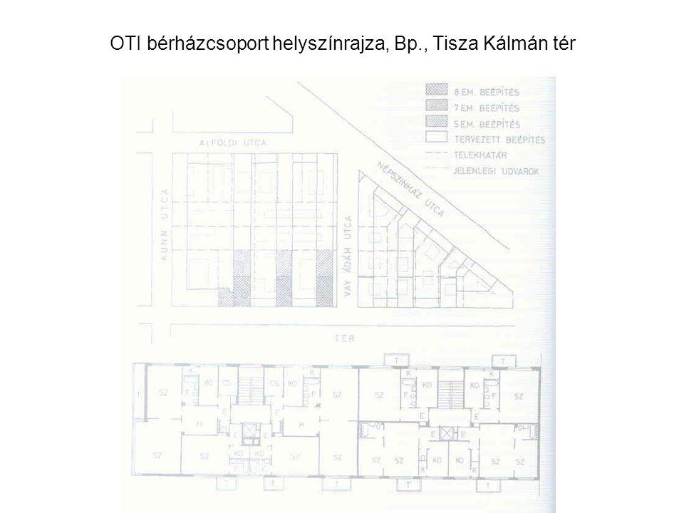 OTI bérházcsoport helyszínrajza, Bp., Tisza Kálmán tér
