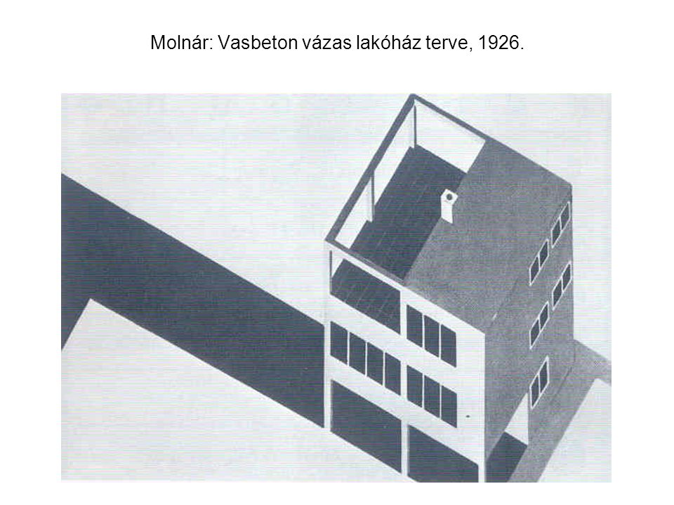 Molnár: 6X6 m-es típusházak terve (1927)