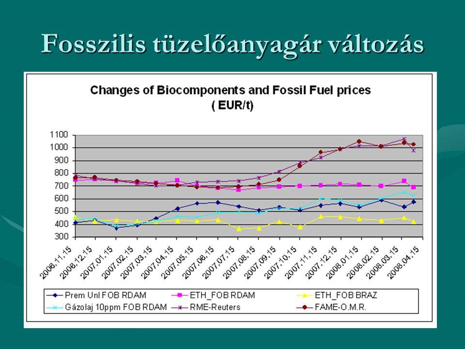 Az árak drasztikus növekedésének okai: •források szűkülése •költségesebben elérhető rétegekből való kitermelés •kockázat, amelyet egyes jelentős kőolajtartalékokkal rendelkező országok politikai - gazdasági helyzete idéz elő •lobbi érdekek és árfelhajtó tevékenységek •a század közepére a kőolajalapú energiahordozók és alapanyag termékek ára akár a mai tízszeresét is elérheti