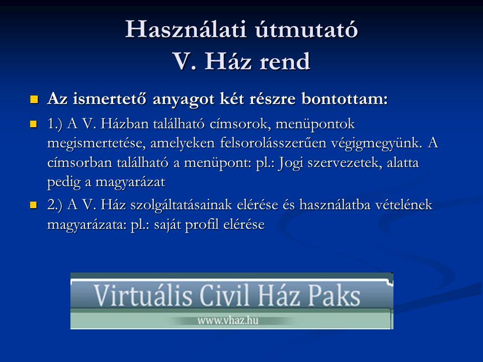 Szervezetek közötti kapcsolatok 1 ÁGAZATOK KIALAKAULÁSA  Virtuális Civilházunkban lehetőség van más szervezetekkel is kapcsolatokat kiépíteni egy belső kommunikációs csatornán keresztül.