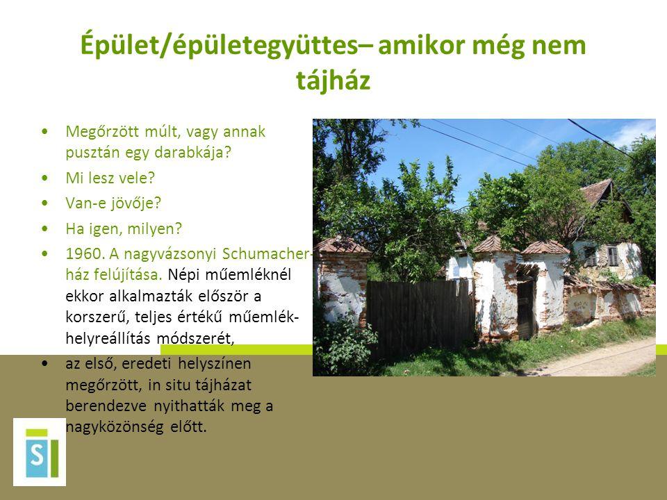 A magyarországi tájház hálózat •A tájházak hálózata tehát bemutatja az egyes tájegységek (pl.