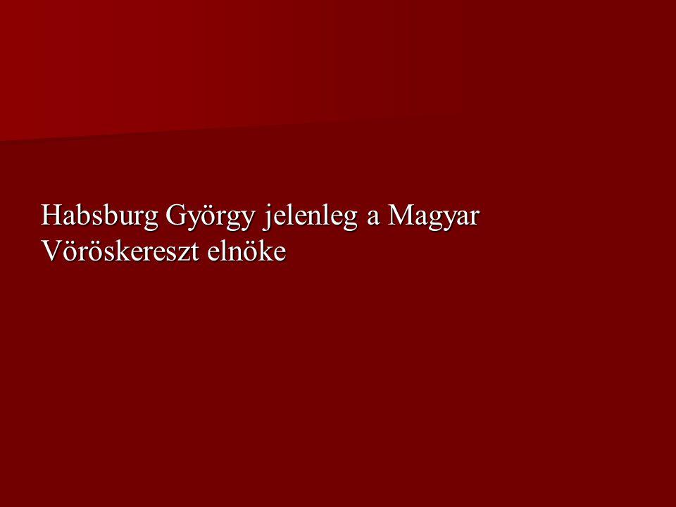 Habsburg György jelenleg a Magyar Vöröskereszt elnöke