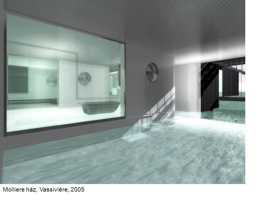 Archimedes ház, Vassiviére, 2005 Az Archimedes házban (Vassiviére) a funkciók az alapján az elv alapján szerveződnek, hogy a meleg levegő felfelé száll.