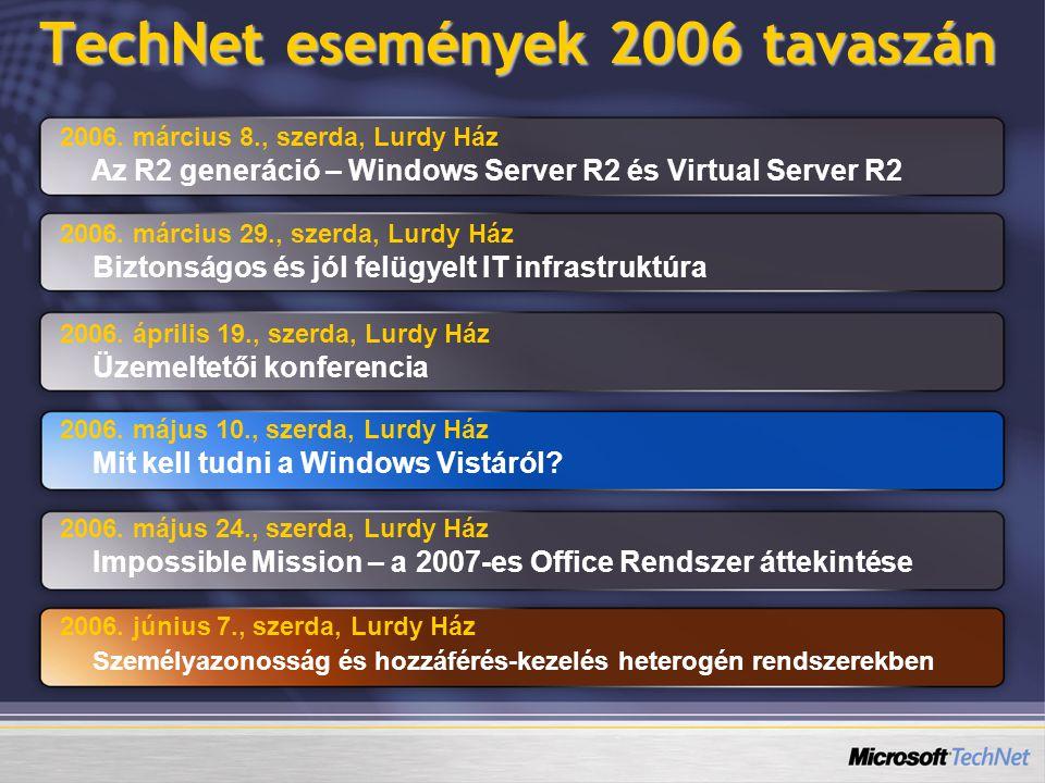 TechNet események 2006 tavaszán 2006.
