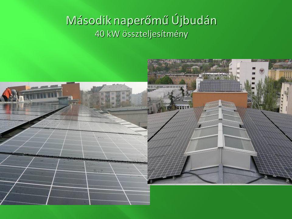 Második naperőmű Újbudán 40 kW összteljesítmény