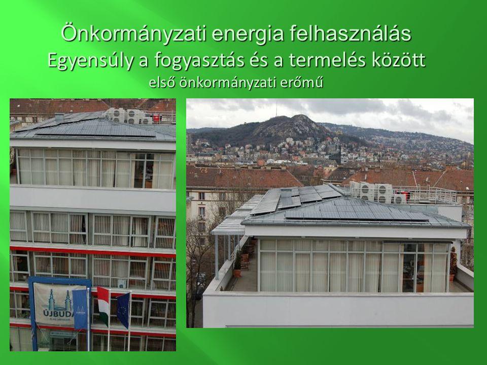 Önkormányzati energia felhasználás Egyensúly a fogyasztás és a termelés között első önkormányzati erőmű