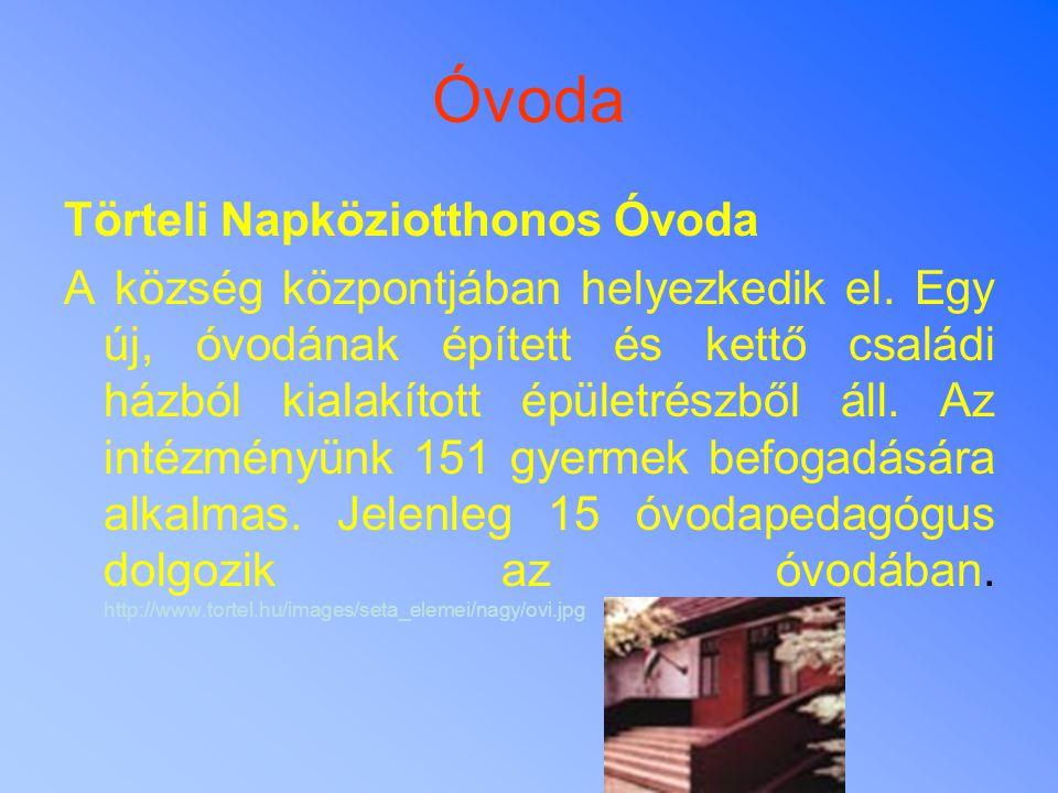 Óvoda Törteli Napköziotthonos Óvoda A község központjában helyezkedik el. Egy új, óvodának épített és kettő családi házból kialakított épületrészből á