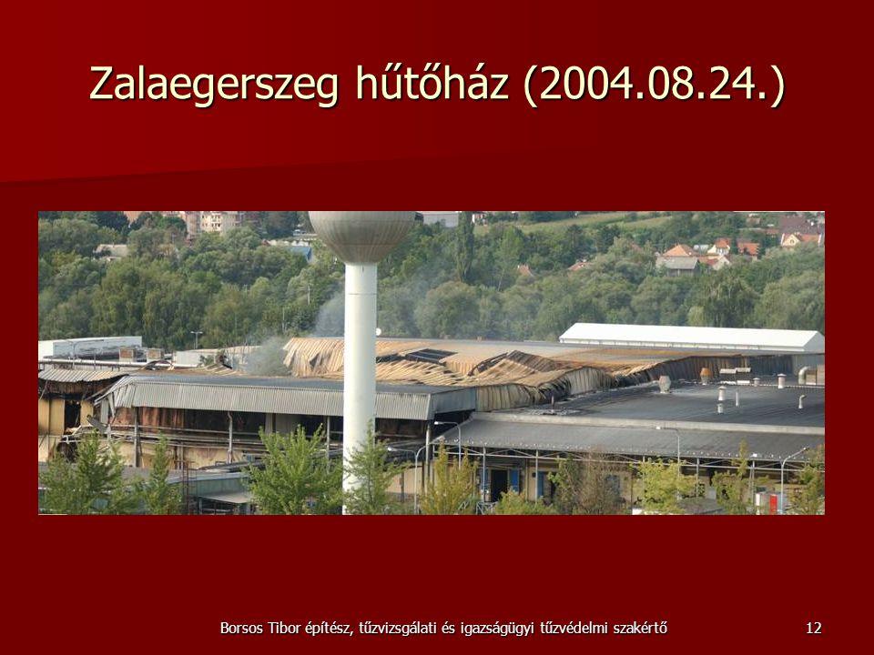 Borsos Tibor építész, tűzvizsgálati és igazságügyi tűzvédelmi szakértő Zalaegerszeg hűtőház (2004.08.24.) 12