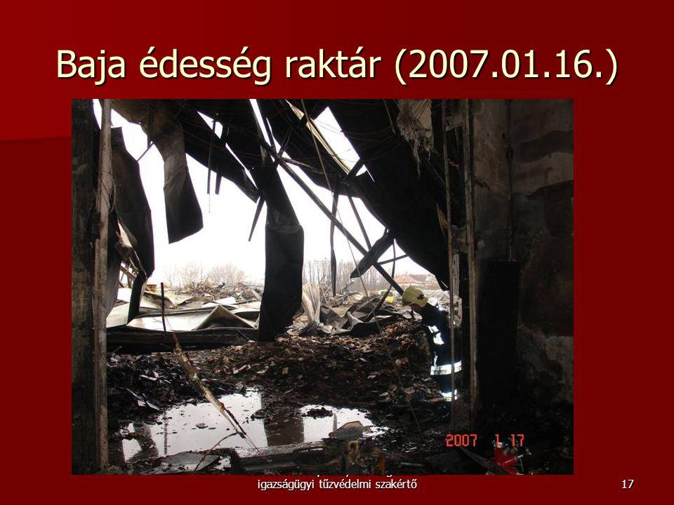 Borsos Tibor építész, tűzvizsgálati és igazságügyi tűzvédelmi szakértő Baja édesség raktár (2007.01.16.) 17