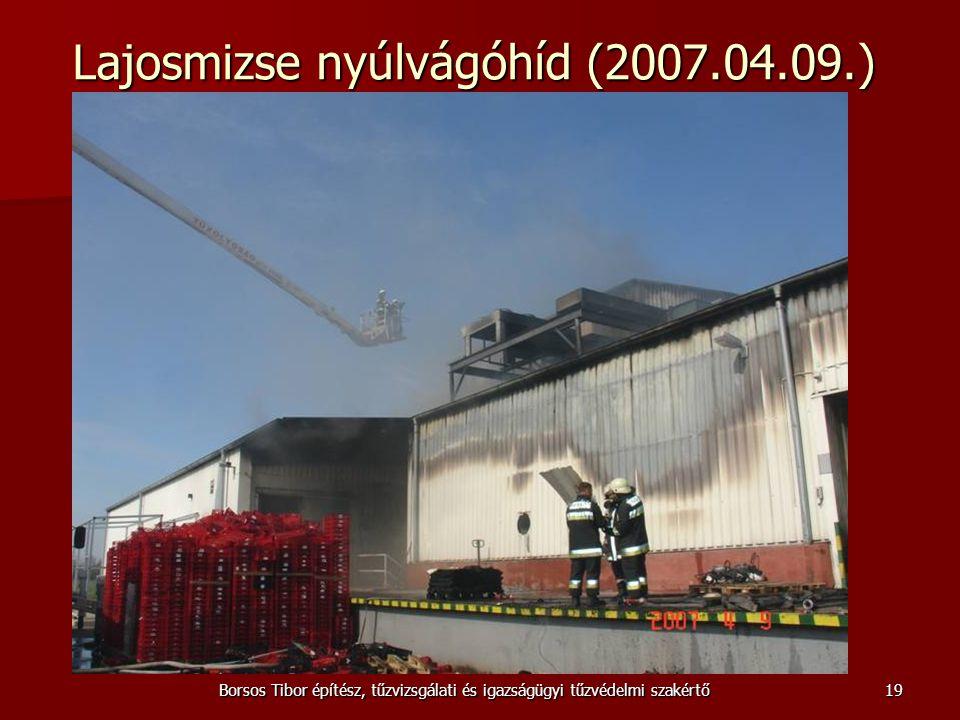 Borsos Tibor építész, tűzvizsgálati és igazságügyi tűzvédelmi szakértő Lajosmizse nyúlvágóhíd (2007.04.09.) 19