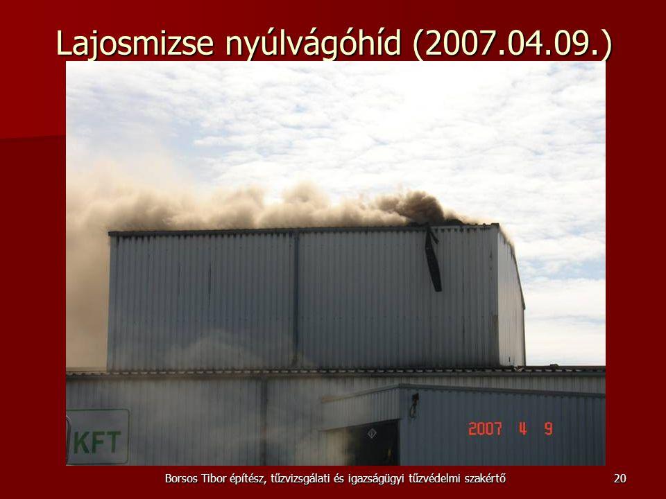 Borsos Tibor építész, tűzvizsgálati és igazságügyi tűzvédelmi szakértő Lajosmizse nyúlvágóhíd (2007.04.09.) 20