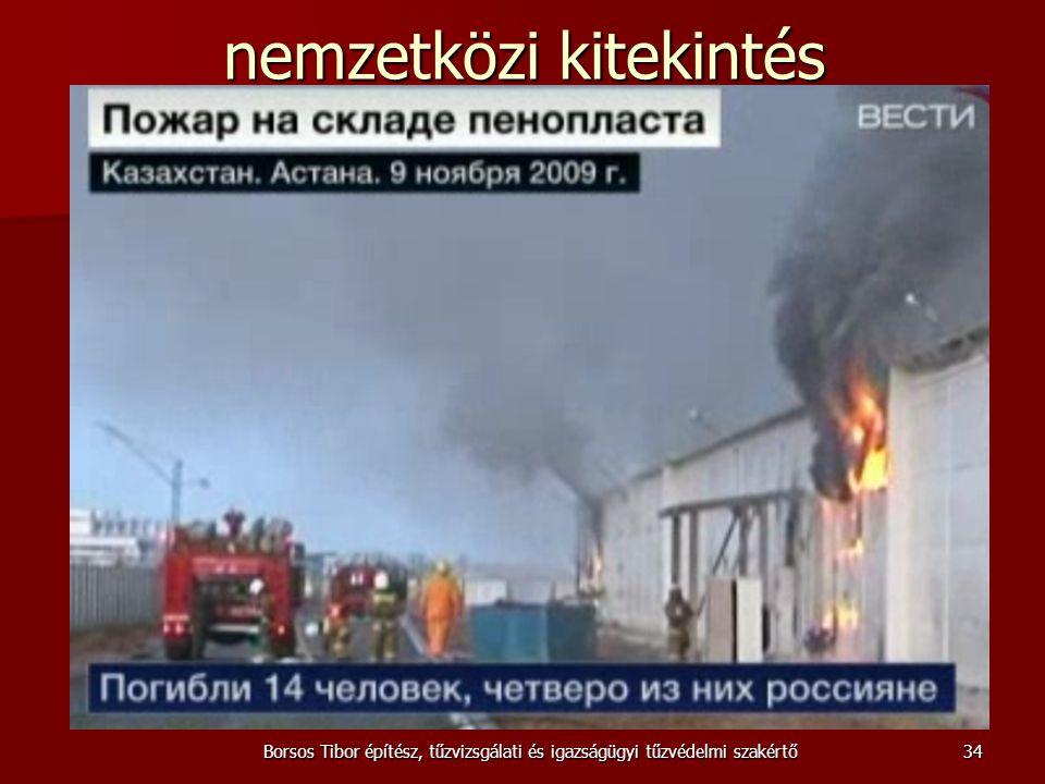 nemzetközi kitekintés Borsos Tibor építész, tűzvizsgálati és igazságügyi tűzvédelmi szakértő34