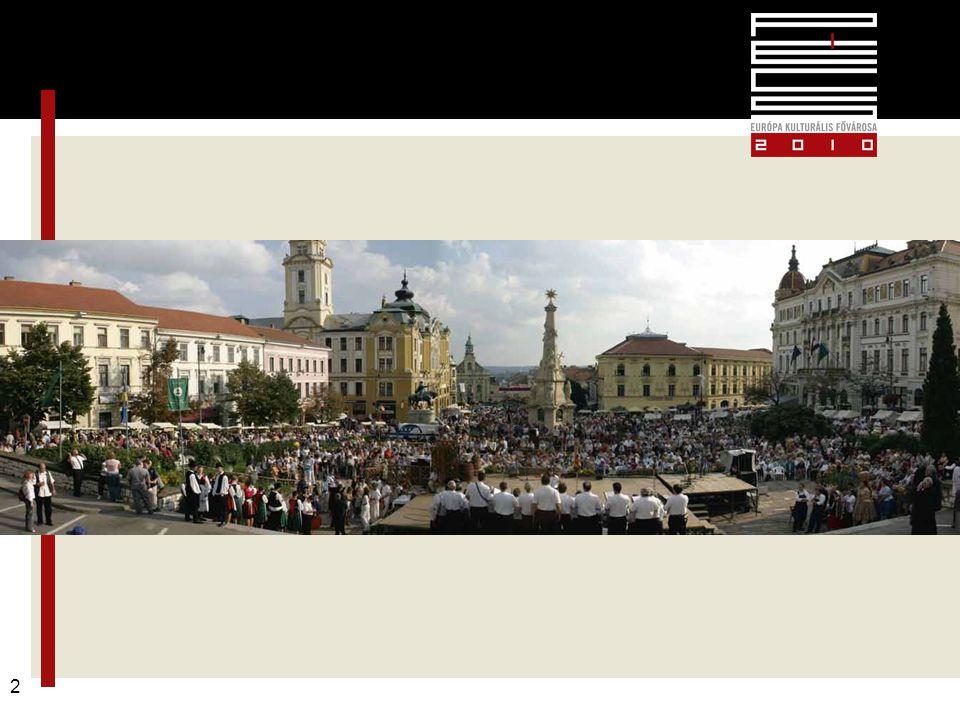 Pécs2010 – alapkoncepció 13 Pécsi Tavaszi Fesztivál március 15 – április 12.