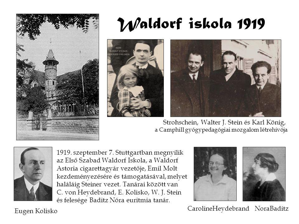 Waldorf iskola 1919 1919. szeptember 7. Stuttgartban megnyílik az Első Szabad Waldorf Iskola, a Waldorf Astoria cigarettagyár vezetője, Emil Molt kezd
