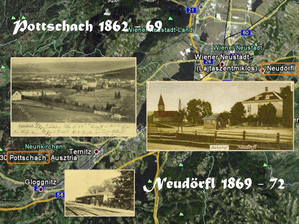 Pottschach 1862 - 69 Neudörfl 1869 - 72 Neudötfl