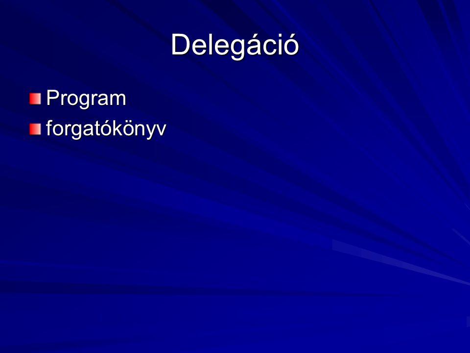 Delegáció Programforgatókönyv