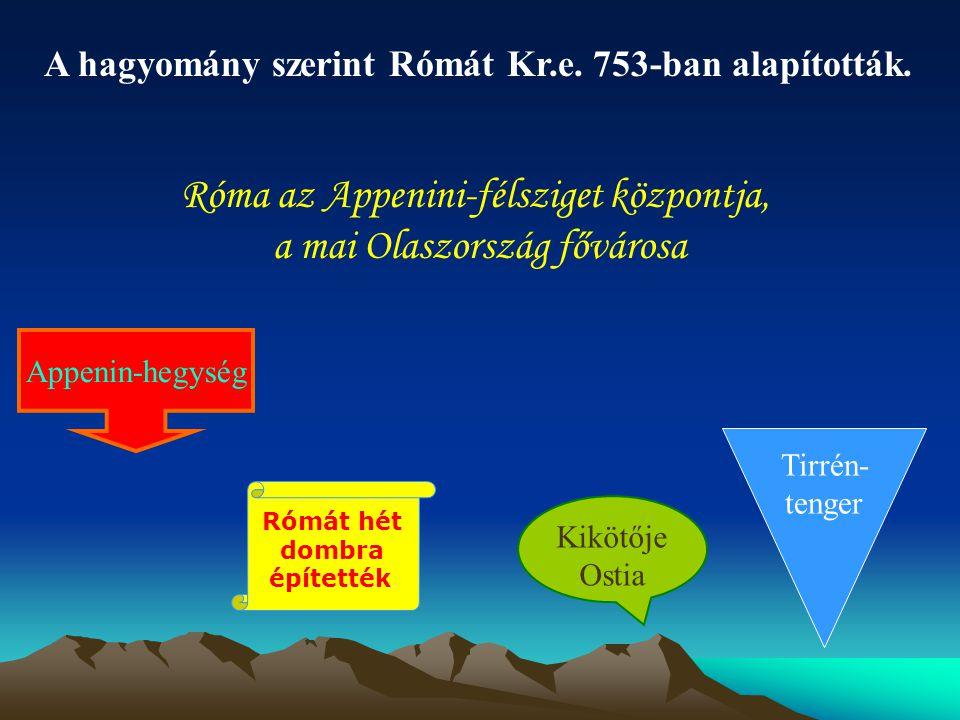 A római hitvilág A rómaiak átvették a görögök vallását, isteneiket.