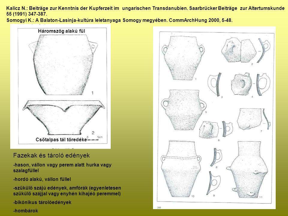 Kalicz N.: Beiträge zur Kenntnis der Kupferzeit im ungarischen Transdanubien. Saarbrücker Beiträge zur Altertumskunde 55 (1991) 347-387. Somogyi K.: A