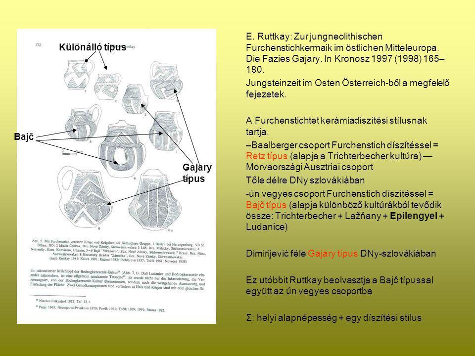 E. Ruttkay: Zur jungneolithischen Furchenstichkermaik im östlichen Mitteleuropa. Die Fazies Gajary. In Kronosz 1997 (1998) 165– 180. Jungsteinzeit im