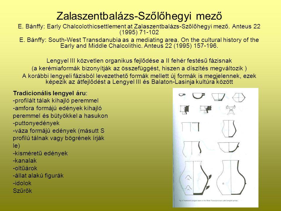 Zalaszentbalázs-Szőlőhegyi mező E. Bánffy: Early Chalcolothicsettlement at Zalaszentbalázs-Szőlőhegyi mező. Anteus 22 (1995) 71-102 E. Bánffy: South-W