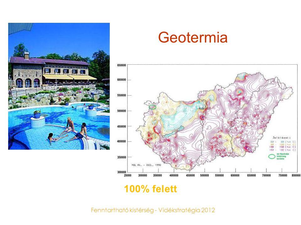Fenntartható kistérség - Vidékstratégia 2012 Geotermia 100% felett