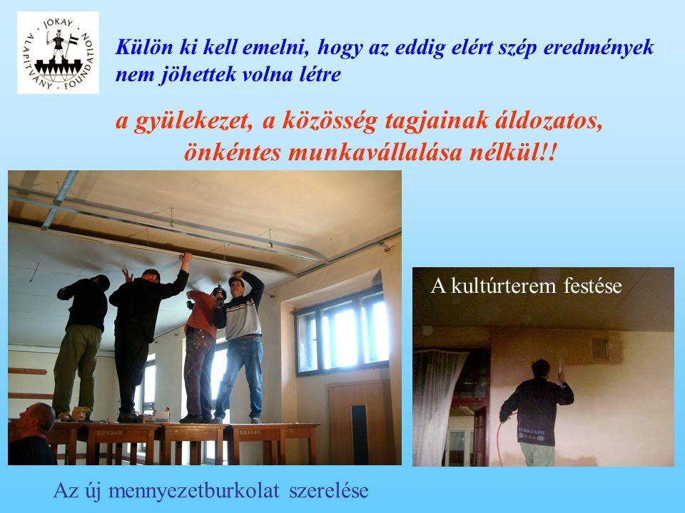 A megújult kultúrterem igen nagy közkedveltségnek örvend, például: - ez év májusában itt tartották meg a Kalotaszegi Református Egyházmegye rendes évi közgyűlését, - szeptember közepén itt rendezték az idősek délutánját: