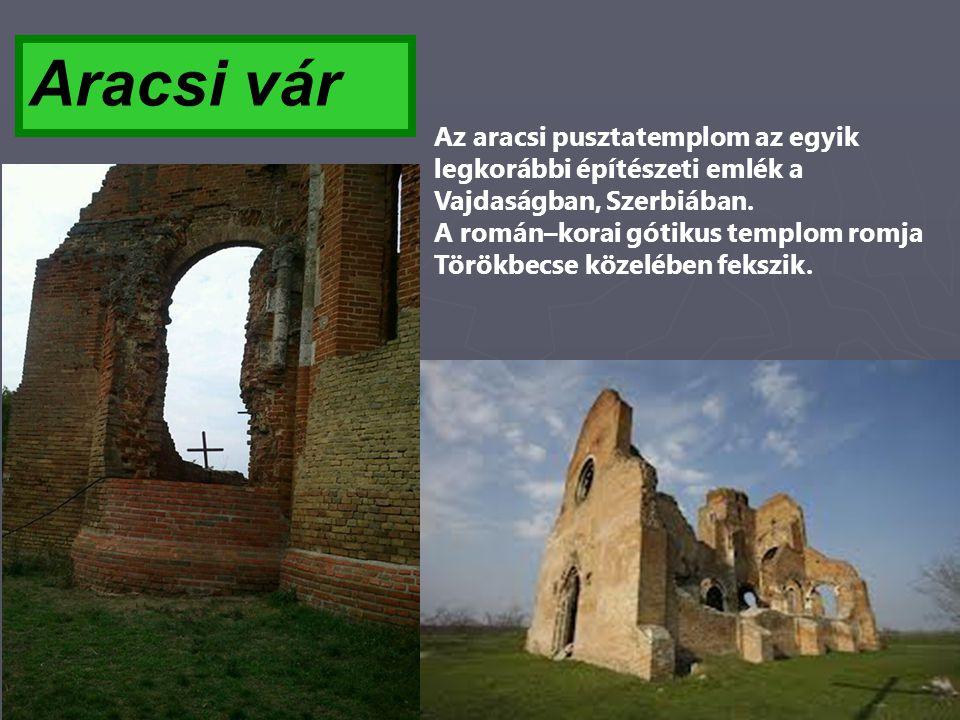 Aracsi vár Az aracsi pusztatemplom az egyik legkorábbi építészeti emlék a Vajdaságban, Szerbiában. A román–korai gótikus templom romja Törökbecse köze