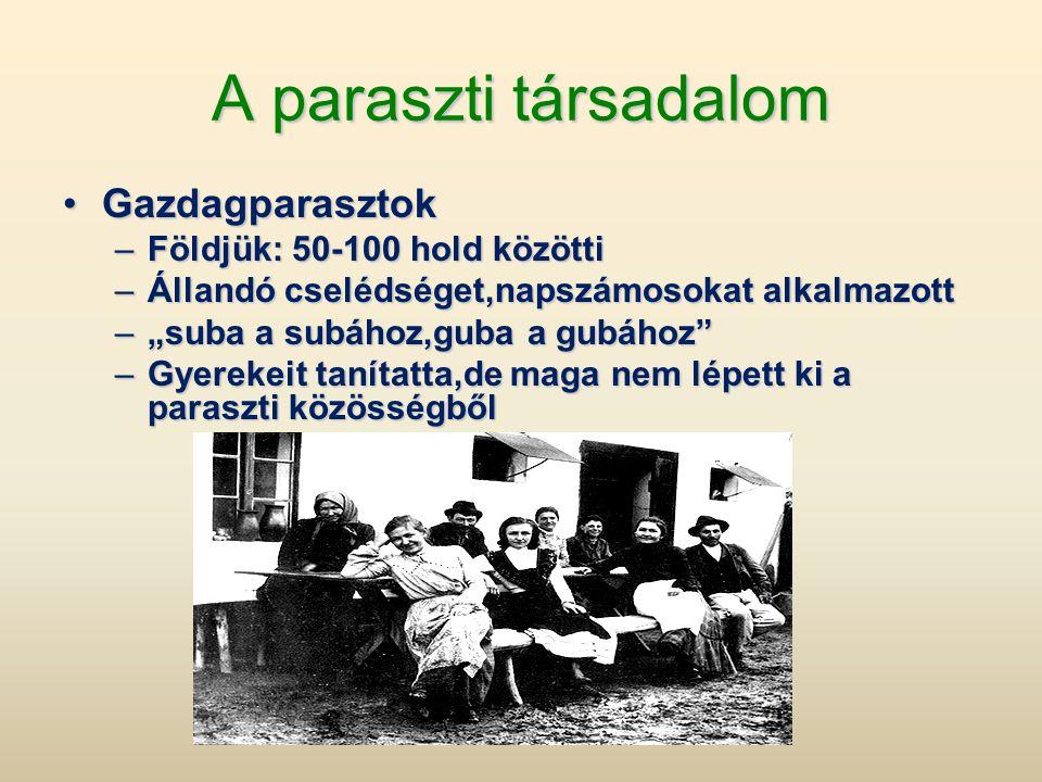 •Nemzetiségi változások és okai •1850: 41% magyar •1880: 46% magyar •1910: 54% magyar •A növekedés okai: –A természetes szaporulat –A zsidóság és a németség asszimilációja –A kivándorlás a szlovákokat, románokat, ruszinokat, szerbeket, németeket jobban sújtotta: összkivándorlók 66%-a •A korszakban demográfiai robbanás figyelhető meg az országban: •1880-1910 között 5,7 millió fővel nő a lakosság száma, ez 42%-os növekedés •Ezt csökkentette a kivándorlás 1,2 millió fővel: csak 33%-a magyar!