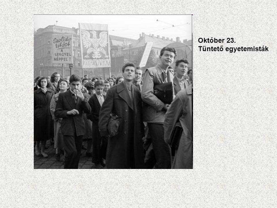 Október 23. Tüntető egyetemisták