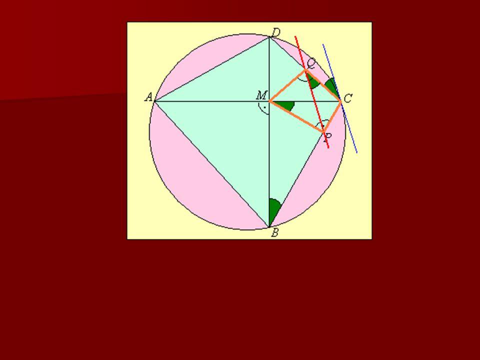 4. feladat Az ABCD húrnégyszög átlói az M pontban merőlegesen metszik egymást. M-ből a BC és CD oldalakra állított merőlegesek talppontjai P és Q. Iga