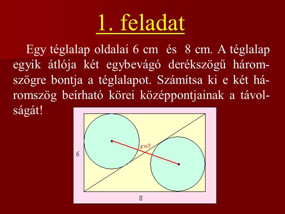 Telefonos feladat Egy háromszög mindhárom oldalának mér- téke cm-ben mérve prímszám. A háromszög kerülete 220 cm. Mekkorák a háromszög oldalai?