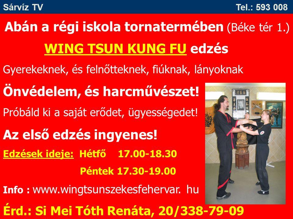 Abán a régi iskola tornatermében (Béke tér 1.) WING TSUN KUNG FU edzés Gyerekeknek, és felnőtteknek, fiúknak, lányoknak Önvédelem, és harcművészet! Pr