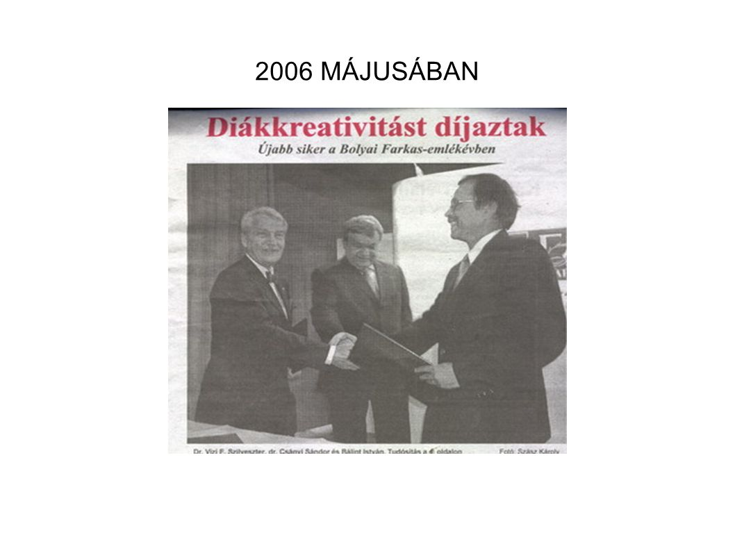 2006 MÁJUSÁBAN