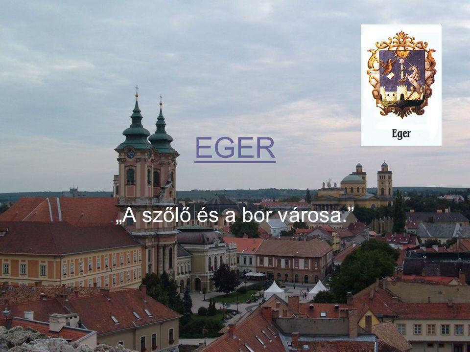 """EGER """"A szőlő és a bor városa."""""""