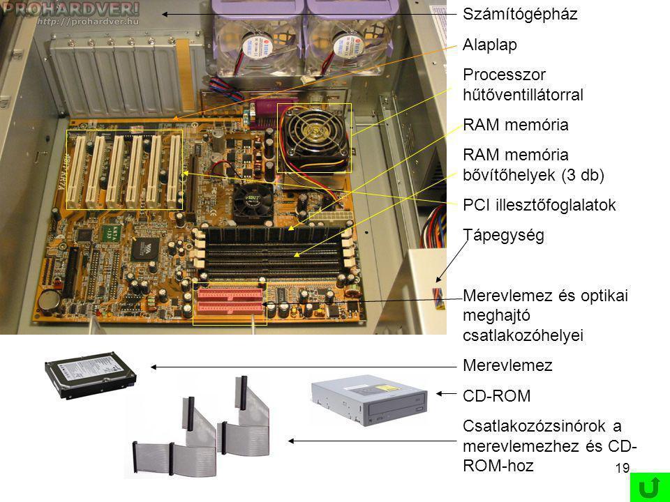 timor Domini principium scientiæ 18 1.5.3 Elektromos elven működő tárolók -Elektromosan törölhető és elektromosan újraírható memória -Flash drive -Speciális, nemfelejtő RAM-ok