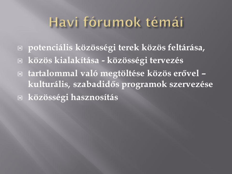 - Városi Főépítésszel egyeztetés - Közösségi tervezés lépéseinek tervezése - 2011.