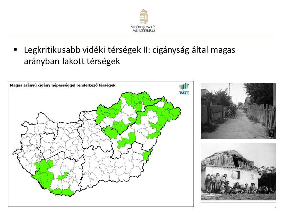 5  Legkritikusabb vidéki térségek II: cigányság által magas arányban lakott térségek