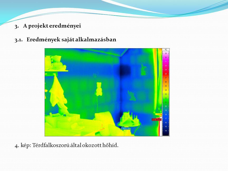 3.A projekt eredményei 3.1. Eredmények saját alkalmazásban 4. kép: Térdfalkoszorú által okozott hőhíd.