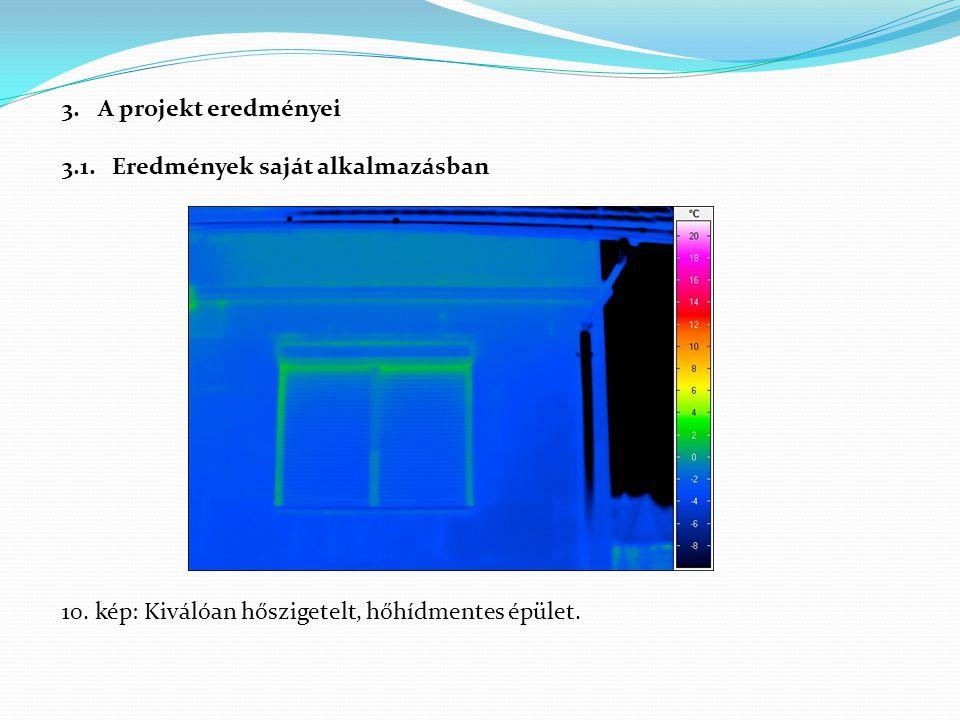 3.A projekt eredményei 3.1. Eredmények saját alkalmazásban 10. kép: Kiválóan hőszigetelt, hőhídmentes épület.